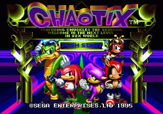 Knuckles' Chaotix (32X)